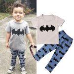 Image is loading 2pcs-Baby-Boy-T-shirt-Tops-Pants-Leggings-