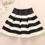 Lovely White and Black Short Autumn/Winter Skirts, Cute Women Skirts, Women  Skirts 2018