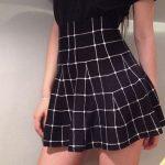 skirt black black and white white black skirt white skirt black and white  skirt grid grid