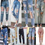 2019 2017 Women Vintage Holes Ripped Jeans Boyfriend Jeans For Women  Trousers Female Retro Denim Capris European Fashion Pants Casual Pants  Cloth From