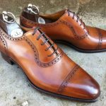 Beautiful Gaziano Girling half brogue in brown