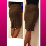 Brown Bebe pencil skirt. Never been worn.