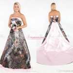 Vintage Strapless 2017 Camo Wedding Dresses Forest Satin Pink Edged Wedding  Gowns With Lace Up And Removable Train Plus Size Bridal Gowns Pink Dresses