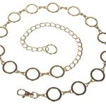 Ladies Metal Circle Chain Belt, Gold | 42""