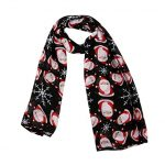 Xmas Hot Sale! Christmas Scarves for Women Santa Print Lightweight Winter  Autumn Scarf Wrap Shawl