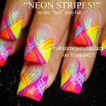Nail Art by Robin Moses: Bright and Colorful Trendy Kiss prints!! Prom or  Spring Nail Art Design up for Wednesday!