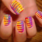 nail art designs bright colors