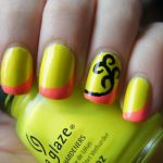 Black NailsInformal Neon Colored Acrylic Nail Designs