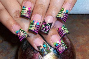 neon nail art designs photo - 1