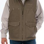 Mens Contender Concealed Carry Vest - Stone