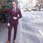 High Quality Burgundy Cool Mens Suits Slim Fit Groom Wedding Tuxedos Cheap  Two Pieces Custom Made Suit Jacket+Pants Best Mens Tuxedos Black Suit Prom  From