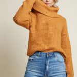 ModCloth Oh My Cozy Cowl Neck Sweater Goldenrod