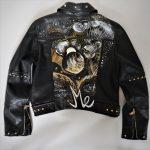 hand-painted jacket, custom jacket, custom leather jacket, biker jacket,
