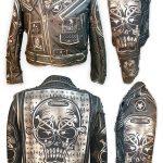 Image of Evil Eyes Custom Leather Jacket