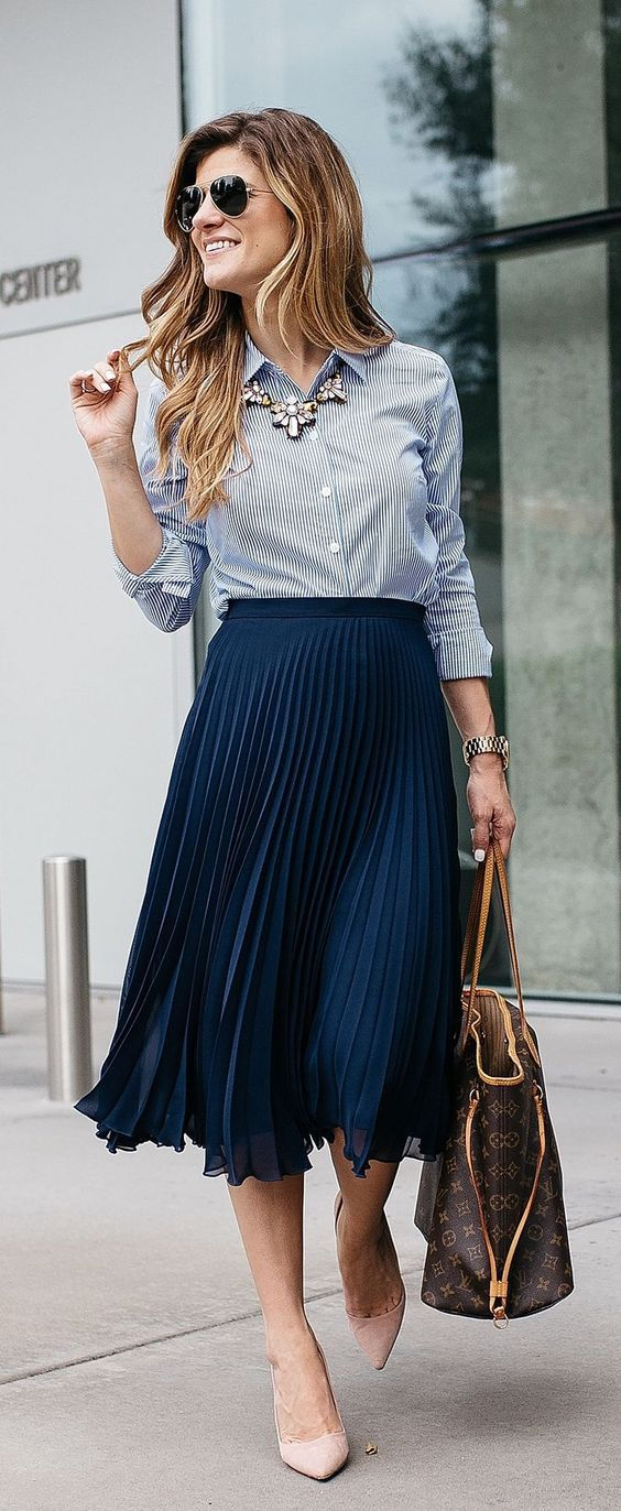 Cute Ways To Wear A Midi Skirt for summer