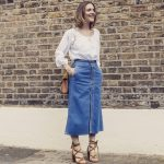 The season update: the denim midi skirt