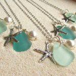 beach jewelry boston sea glass: sea glass wedding jewelry would be great  for bridesmaids STXEQJB