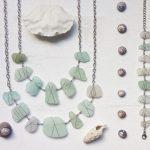 sea glass jewellery, found object jewellery, beach pottery jewellery, sea  pottery jewellery,