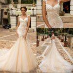 Designer Mermaid Lace Wedding Dresses 2018 Crystal Design Bridal  Embellished Bodice Sleeveless Fit And Flare Backless Wedding Gowns Designer  Beach Wedding