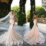 Milla Nova 2018 Designer Mermaid Wedding Dresses Illusion Neck Capped  Sleeves Full Lace Appliqued Backless Bridal Dress Online Wedding Dress Sale  Wedding