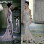 siver prom prom dress wedding dress wedding mermaid prom dress sparkling  dress jeweled dress beaded dress