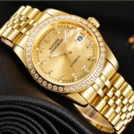 Mechanical Designer Watches Top Luxury Domineering Men Classic Watch  Diamond Calendar Plated 18 K Gold 316L Stainless Steel Full Gold Dial  Watches For Less