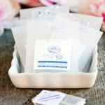 DIY tea bag wedding favors