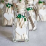 Learn to make your own DIY wedding favors. These match wedding favors are  so cute
