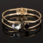 Women Bracelet 18k Gold Elegant Jewelry Fashion Bud Crystal Bracelets  Bangles Christmas Gifts For Women Gold Bangles Uk Silver Cuff Bangle From