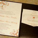 fall wedding invitations kits