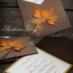 Stylish And Elegant Fall Wedding Invitations