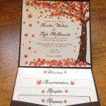 Falling leaves Wedding Invitation Autumn in 2019 | wedding ideas | Wedding  Invitations, Fall wedding invitations, Wedding.
