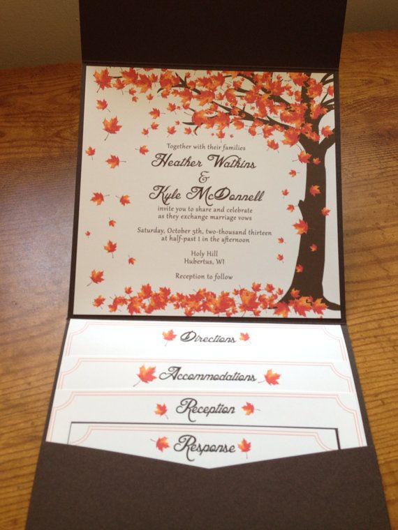 Fall Wedding Invitations Ideas