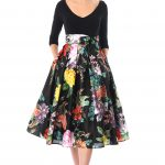 Black multi dresses, day dresses, Dry clean dresses, feminine dresses,  floral