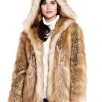 Gold Fox Hooded Faux Fur Jacket - 1