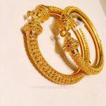 Gold Adjustable Bangle Designs, 22K Gold Adjustable Bangle Models,  Adjustable Gold Bangle Collections.