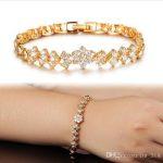 LYZ New Fashion 18K Real Gold Bracelets For Women Luxury White Stones  Zirconia Wedding Jewelry Bangle Wholesale Accessories Ks42 Charms Bracelets  Bracelets