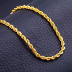 Men Antique Gold Chains Vintage Men Twisted Rope Necklace Chain For Women  Female DIY Jewelry Making