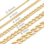 Image is loading Mens-womens-kids-14K-Gold-Plated-Stainless-Steel-