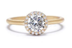 Round-Cut Diamond Halo Engagement Ring