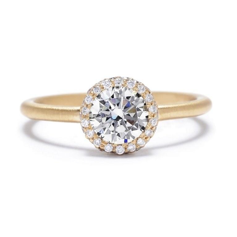 gold diamond rings for engagement