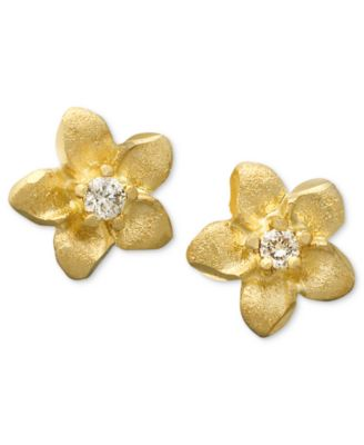 gold earring studs
