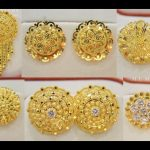 Traditional Gold Studs Round Design For Women
