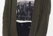 Army green wool cardigan