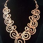 Hammered Copper Collar Style Necklcase by MontourDesigns on Etsy, $50.00  Wire Wrapped Necklace, Wire