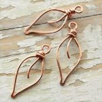Copper Wire Jewelry |  copper wire small handmade wirework by  mycorabella leaves solid