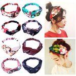 Amandir 8 Pack Headbands for Women Boho Cute Twist Headband Criss Cross  Head Wraps Hair Band