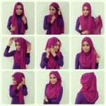 hijab style with side drape