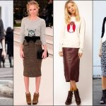 Ankle Boots with Pencil Skirt Outfits