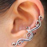 ear cuff jewelry french twist ear cuff - silver SDQWCOZ